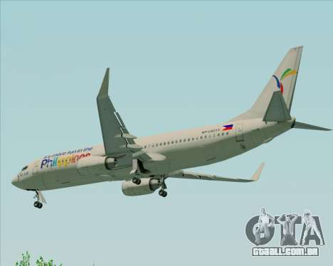 Boeing 737-800 South East Asian Airlines (SEAIR) para GTA San Andreas vista inferior