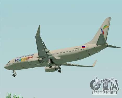 Boeing 737-800 South East Asian Airlines (SEAIR) para GTA San Andreas vista inferior