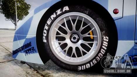 Nissan R390 GT1 1998 para GTA 4 vista de volta