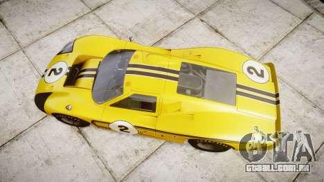 Ford GT40 Mark IV 1967 PJ 2 para GTA 4 vista direita