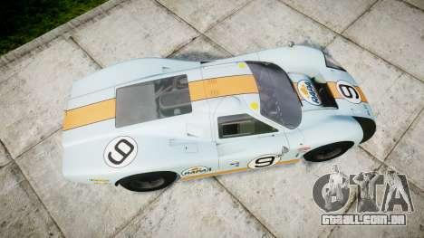 Ford GT40 Mark IV 1967 PJ RAPA olio 9 para GTA 4 vista direita