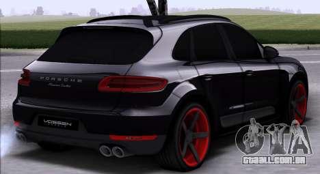 Porsche Macan Vossen para GTA San Andreas vista direita