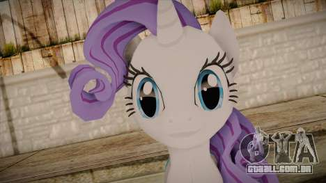Rarity from My Little Pony para GTA San Andreas terceira tela
