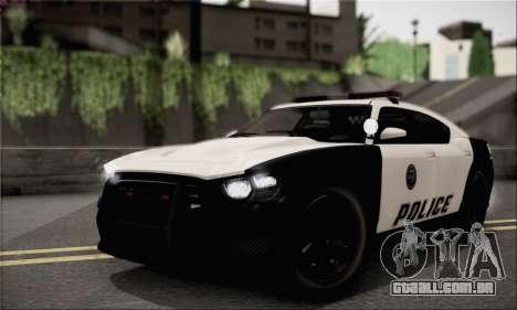Bravado Buffalo S Police Edition (IVF) para GTA San Andreas vista traseira