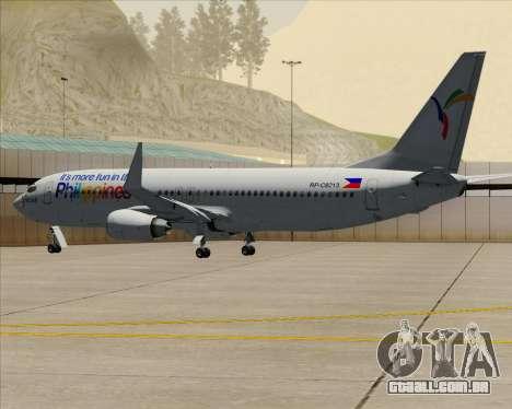 Boeing 737-800 South East Asian Airlines (SEAIR) para GTA San Andreas vista superior