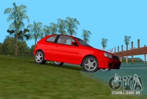 Daewoo Lanos Esporte EUA 2001 para GTA Vice City vista direita