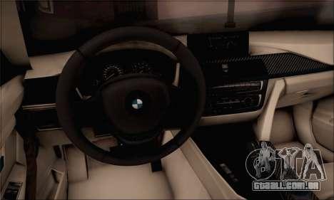 BMW F30 320d para GTA San Andreas traseira esquerda vista
