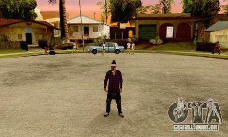 The Ballas Gang Skin Pack para GTA San Andreas terceira tela