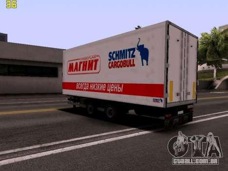 Trailer Magnit para GTA San Andreas esquerda vista