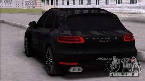 Porsche Macan Turbo para GTA San Andreas esquerda vista