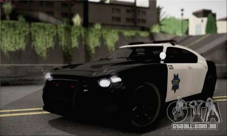 Bravado Buffalo S Police Edition (IVF) para GTA San Andreas vista direita