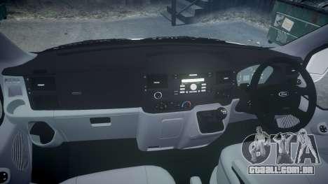 Ford Transit 2011 SuperSportVan para GTA 4 vista de volta