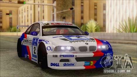 BMW M3 E46 GTR para GTA San Andreas vista interior