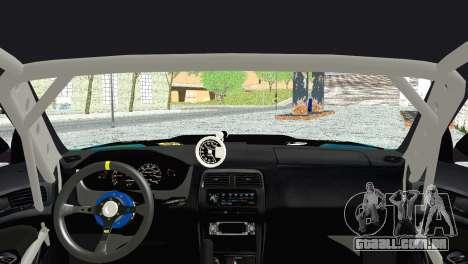 Nissan Silvia S14 Falken para GTA San Andreas traseira esquerda vista