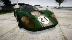 Ford GT40 Mark IV 1967 PJ Mixlub 21 para GTA 4