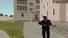 O sargento da polícia