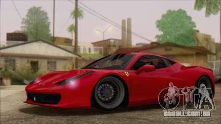Ferrari 458 Italia para GTA San Andreas