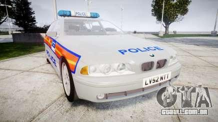 BMW 525i E39 Touring Police [ELS] JSTV para GTA 4