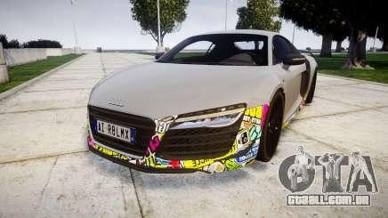 Audi R8 LMX 2015 [EPM] Sticker Bomb para GTA 4