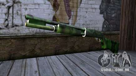 Chromegun v2 Militar colorir para GTA San Andreas