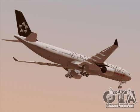 Airbus A330-300 Air Canada Star Alliance Livery para GTA San Andreas vista direita
