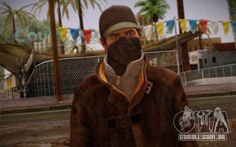 Aiden Pearce from Watch Dogs v5 para GTA San Andreas terceira tela