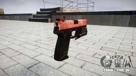 Pistola HK USP 45 vermelho para GTA 4 segundo screenshot