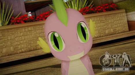 Spike from My Little Pony para GTA San Andreas terceira tela