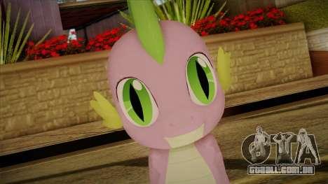Spike from My Little Pony para GTA San Andreas terceira tela