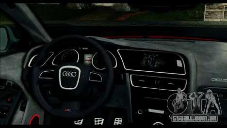 Audi RS5 Coupe para GTA San Andreas traseira esquerda vista