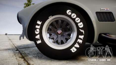 AC Cobra 427 PJ1 para GTA 4 vista de volta