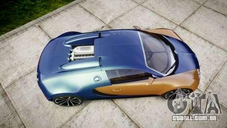 Bugatti Veyron 16.4 v2.0 para GTA 4 vista direita