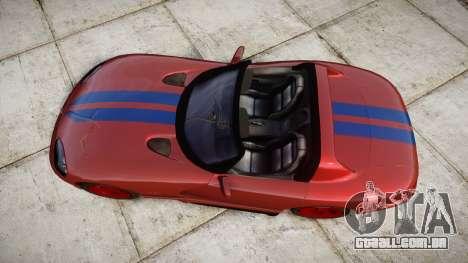 Dodge Viper RT-10 1992 para GTA 4 vista direita