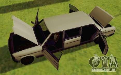 Admiral Limousine para GTA San Andreas vista direita