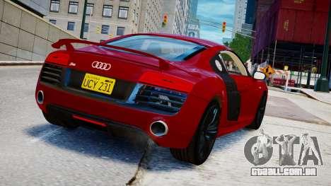 Audi R8 V10 Plus 2014 v1.0 para GTA 4 esquerda vista