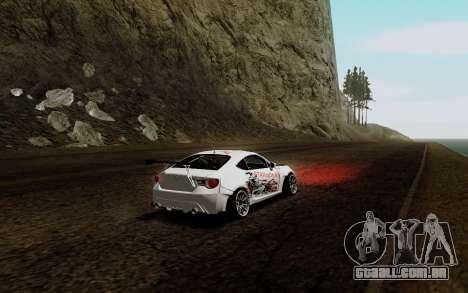 Subaru BRZ VCDT para GTA San Andreas vista direita