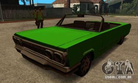 Beta Savanna para GTA San Andreas esquerda vista