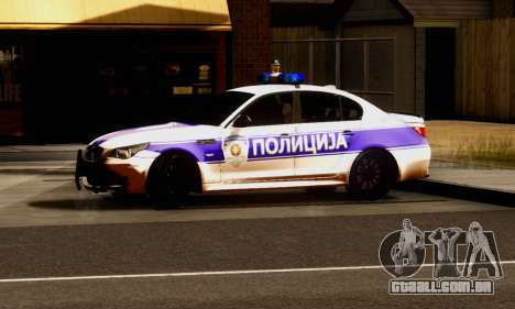 BMW M5 E60 POLICIJA para GTA San Andreas