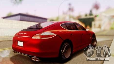 Porsche Panamera para GTA San Andreas esquerda vista