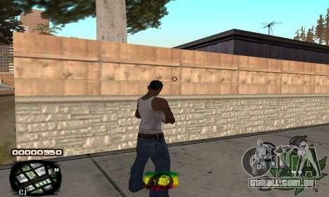 C-HUD Rasta para GTA San Andreas segunda tela