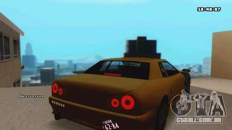 Elegy para GTA San Andreas traseira esquerda vista