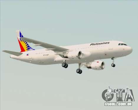 Airbus A320-200 Philippines Airlines para GTA San Andreas traseira esquerda vista