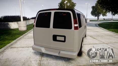 Chevrolet Express 2013 NYPD [ELS] unmarked para GTA 4 traseira esquerda vista