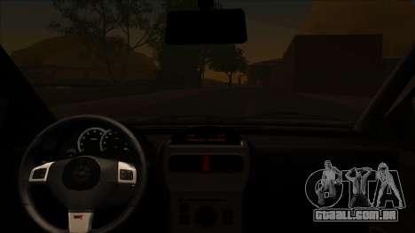 Opel Corsa C Sport para GTA San Andreas traseira esquerda vista