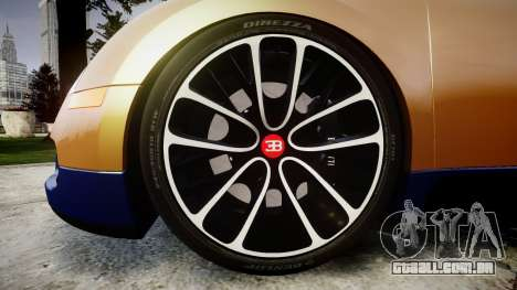 Bugatti Veyron 16.4 v2.0 para GTA 4 vista de volta