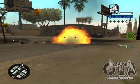Samaro C-HUD para GTA San Andreas segunda tela