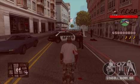 C-HUD A.C.A.B para GTA San Andreas segunda tela