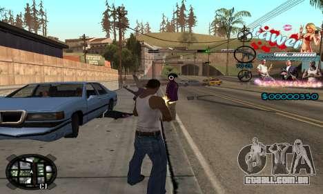 C-HUD Tawer GTA 5 para GTA San Andreas por diante tela