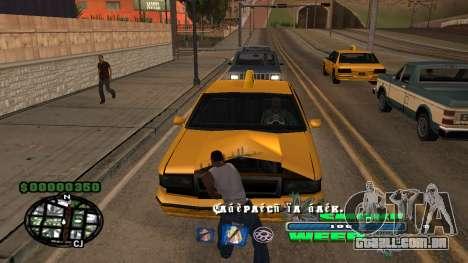 C-HUD Smoke Weed para GTA San Andreas segunda tela