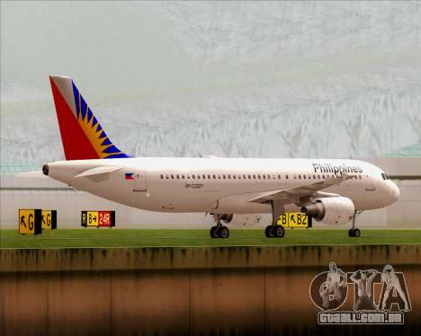 Airbus A320-200 Philippines Airlines para GTA San Andreas vista traseira
